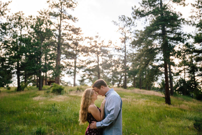 Mount Falcon Park engagement session, Morrison Engagement session, couple hugging, couple holding each other