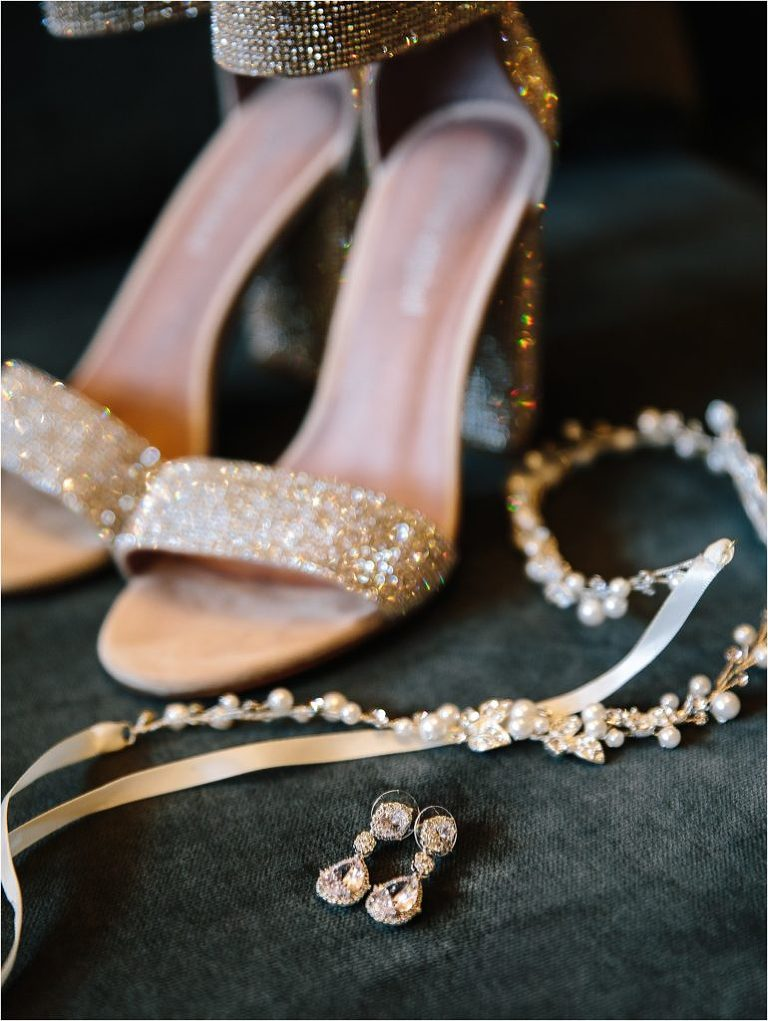 Vail wedding photographer, Bridal Collection jewelry, Bridal Collection earrings, Bridal Collection bridal head piece, wedding jewelry, wedding earrings, bridal hair piece, Jeffrey Campbell wedding shoes