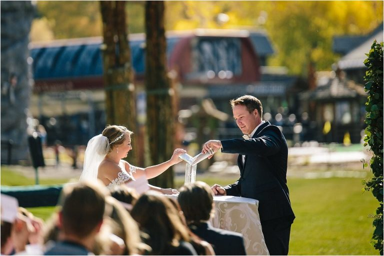 Vail wedding photographer, Vail wedding videographer, Park Hyatt at Beaver Creek wedding, Park Hyatt at Beaver Creek sand ceremony, wedding sand ceremony