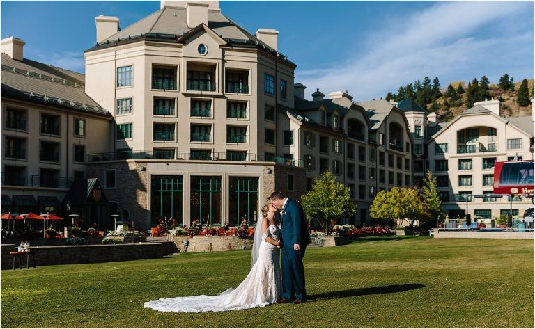 Park Hyatt at Beaver Creek, Park Hyatt at Beaver Creek wedding, Bride and Groom kissing at Park Hyatt at Beaver Creek, Bride and Groom kissing Vail ski resort, Bride and Groom kissing, Vail ski resort, Vail wedding photographer, Vail wedding videographer