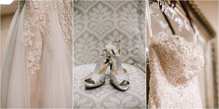 Colorado blush wedding dress, blush wedding dress, classic and elegant blush wedding dress, silver wedding heels, silver bling wedding shoes, blingy wedding shoes